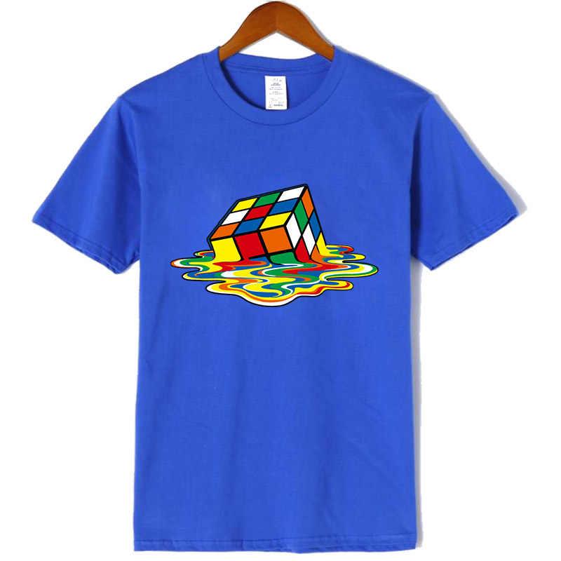 新メンズカジュアル高Quality100% 綿半袖tシャツ魔方陣印刷oネックtシャツカジュアルヒップホップtシャツ男性のための