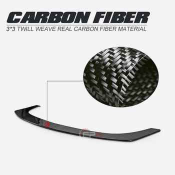 For Nissan 2009+ 370Z Z34 WBS Style Carbon Fiber Front Splitter Glossy Finish Bumper Lip Fibre Under Panel Trim Fit Car-styling
