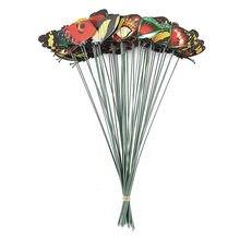 Estacas coloridas De mariposas para jardín, adornos De mariposas para Patio, palos, accesorios De Escritorio De decoración para el hogar, maceta De flores, 50 Uds.