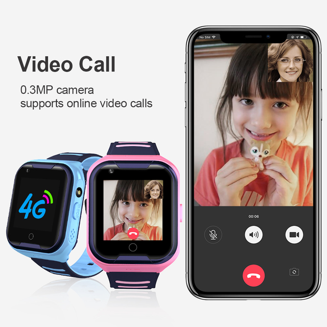 LEMFO G4H 4G Kids Smart Watch GPS Wifi Ip67 Waterproof 680Mah Big Battery 1.4 Inch Display Camera Take Video Smartwatch Kids