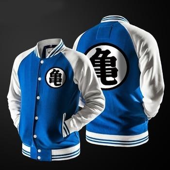 цена на ZOGAA Anime Dragon Ball Goku Varsity Jacket Autumn Casual Sweatshirt Hoodie Coat Jacket Brand Baseball Jacket