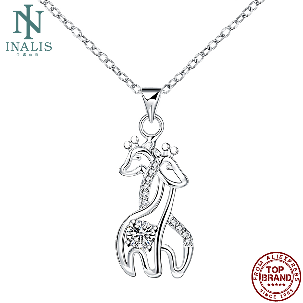 INALIS Cute Giraffe Pendant For Women Personality Romantic Animal Pendants Festival Prom Fashion Jewelry Gift Send Girlfriend