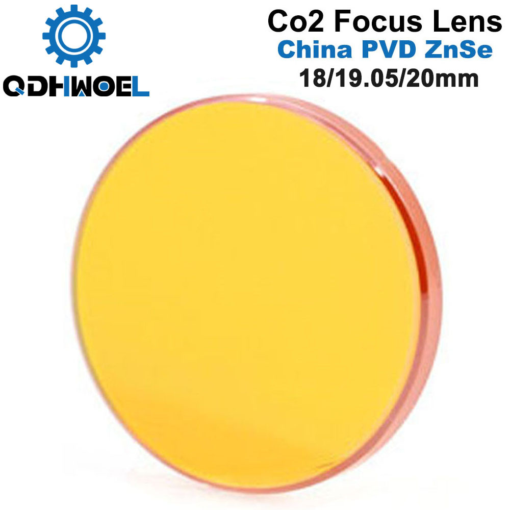China CO2 ZnSe Focus Lens Dia.18 19.05 20 Mm FL38.1 50.8 63.5 101.6 127mm 1.5 - 4