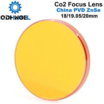 China CO2 ZnSe Focus Lens Dia.18 19.05 20 mm FL38.1 50.8 63.5 101.6 127mm 1.5 - 4 for Laser Engraving Cutting Machine fireray co2 laser head set kit 1pcs dia 20mm znse focus lens 3pcs dia 25m mo si mirror 25mm for laser engraving cutting machine