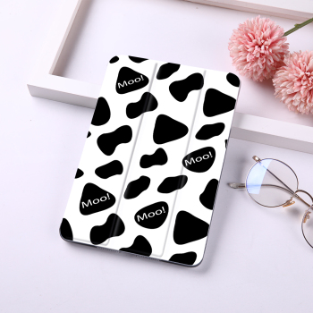 Cute Cow Print Case For iPad Apple 7th 8th Generation Case Air 3 Air 2 Cover PC Leather For ipad Pro 11 12.9 Case 2020 Mini 5 4