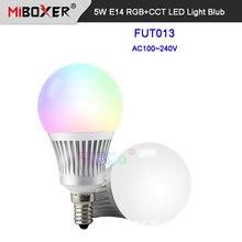 Miboxer 5 Вт e14 rgb + cct светодиодный светильник blub fut013