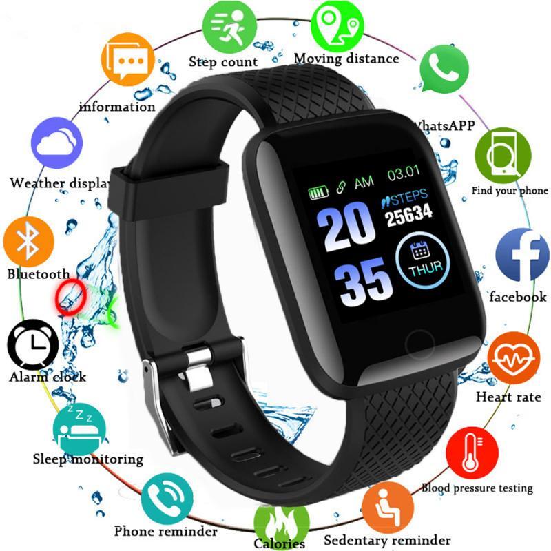 Smart Watch Bluetooth 4.2 Heart Rate/Oxygen BloodPressure SportFitness Tracker 116 PLUS Smart Bracelet Watch TXTB1