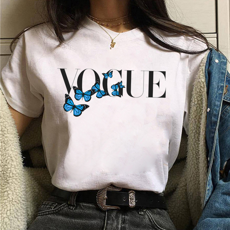 2021 Мода VOGUE принцесса женская футболка Harajuku футболка уличная футболка, с мультяшным принтом женская Kawaii для девочек подростков одежда эстет...