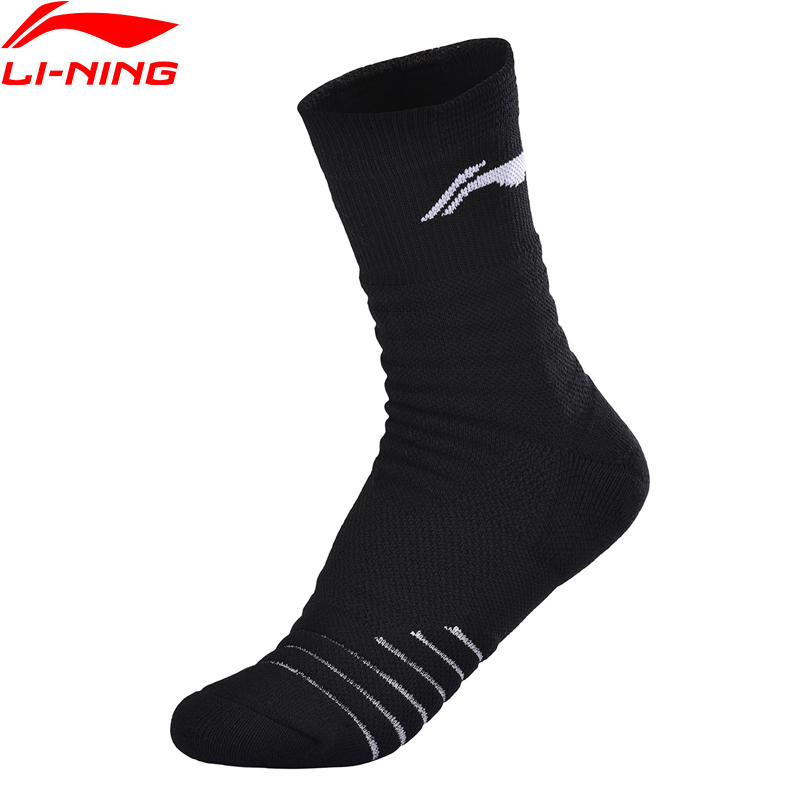 Li-Ning Men Basketball Series Socks 24-26cm EU SIZE 39-44 Comfort LiNing Li Ning Sports Mid Cut Socks AWSQ005 NWM470