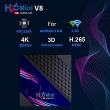 H96 mini v8 rk3228a 8gb 16gb smart tv caixa suporte 1080p wifi 4k bt para youtube