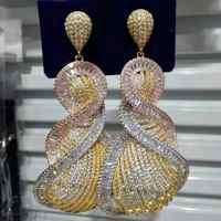 Missvikki luksusowe wspaniałe kropla wisiorek kolczyki Mini CZ ślub panny młodej aktor tancerz powołanie Party Show kolczyk biżuteria