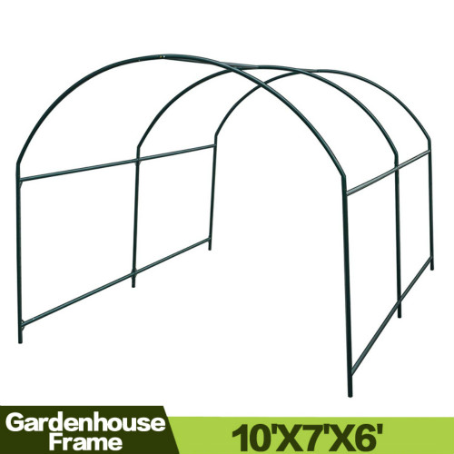 Greenhouse Replacement Frame For 10'X7'X6' Larger Hot Garden House, Support Arch Frame Climbing Plants/Flowers/Vegetables