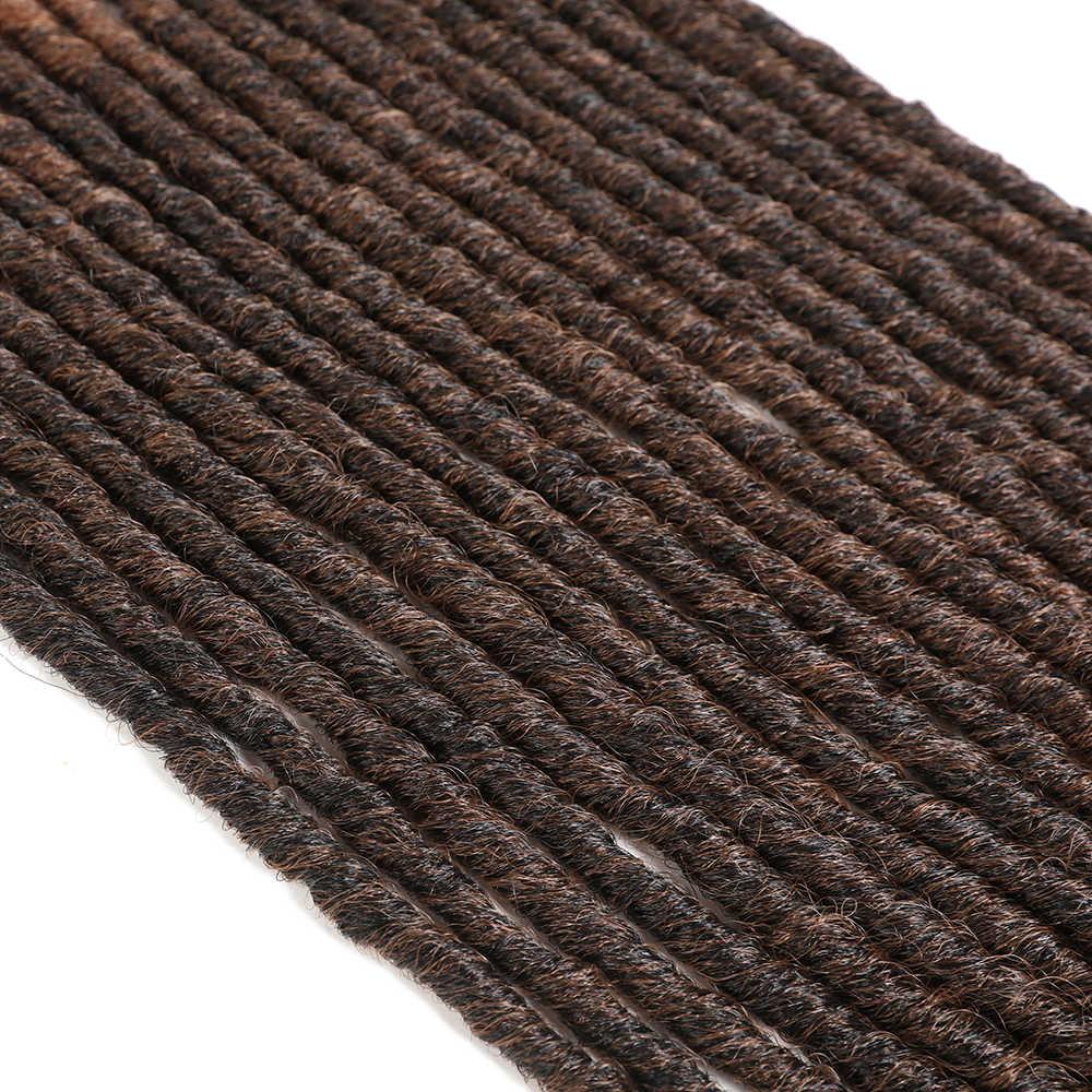 X-TRESS dreadlocks macios crochê tranças jumbo dreadlocks dreadlocks penteado ombre cor sintético falso locs trança extensões de cabelo para mulher