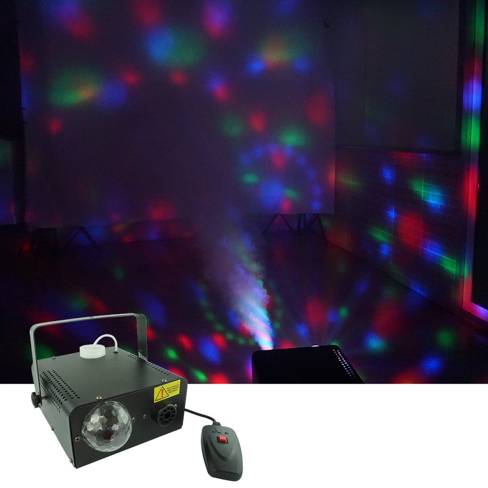 Sharelife 2 in 1 Function RGB LED Magic Ball Light +  400W Smoke Fog Machine DJ Party Home Show Stage Lighting Effect SmL MGB|Stage Lighting Effect| |  - title=