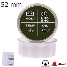 4 Led-Alarm-Gauge Meter Alarm-Indicator Engine Water-Temp/check 52-Mm with Fit-For Car-Boat