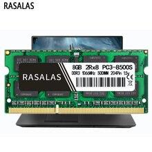 Rasalas – mémoire de serveur d'ordinateur portable, modèle DDR3, capacité 8 go 4 go, fréquence d'horloge 1600/1333/1066/1866MHz, RAM SODIMM, tension 1.5V, tension 1.35V