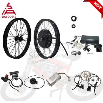 Gran oferta, rueda de Motor QS 3000W QS 205 V3 V3I 50H, Kit de conversión de Motor de cubo de radios eléctricos para bicicleta eléctrica de alta potencia