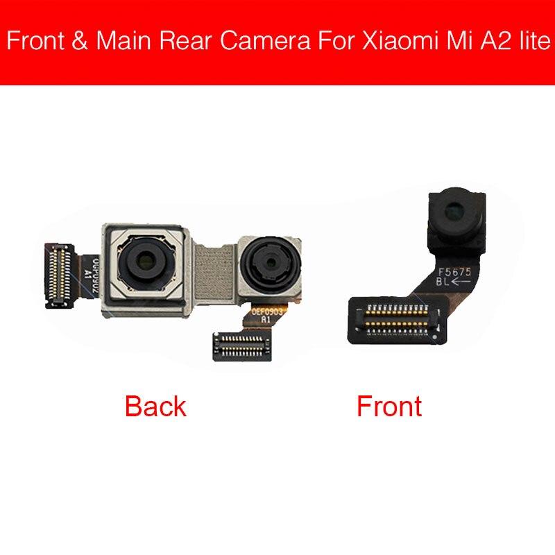 Front & Rear Main Camera For Xiaomi Mi A2 Lite A2Lite/ Redmi 6 Pro Front Small Back Camera Flex Cable Replacement Parts
