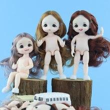 Bjd boneca 13 móvel articulado 16cm 1/8 surpresa blyth bonecas lols brinquedos boneca do bebê nu feminino corpo bonecas para meninas presente brinquedo