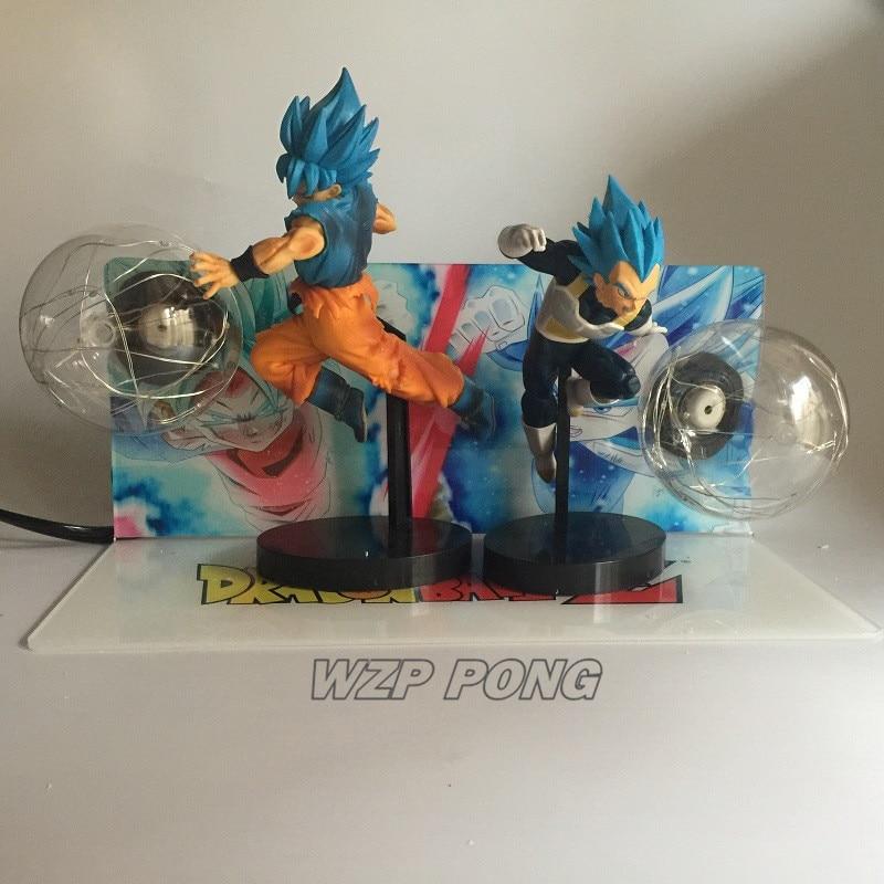 21 см Dragon Ball Son Goku vs Vegeta светодиодное украшение фигурка куклы игрушки ПВХ фигурка Коллекция Модель игрушки подарок - 4