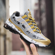 Air Sole Running Shoes for Men Comfortable Brand new Sneaker Size 39-46 Lace-up Outdoor Mesh Fitness Jogging Sport shoes for Men цена