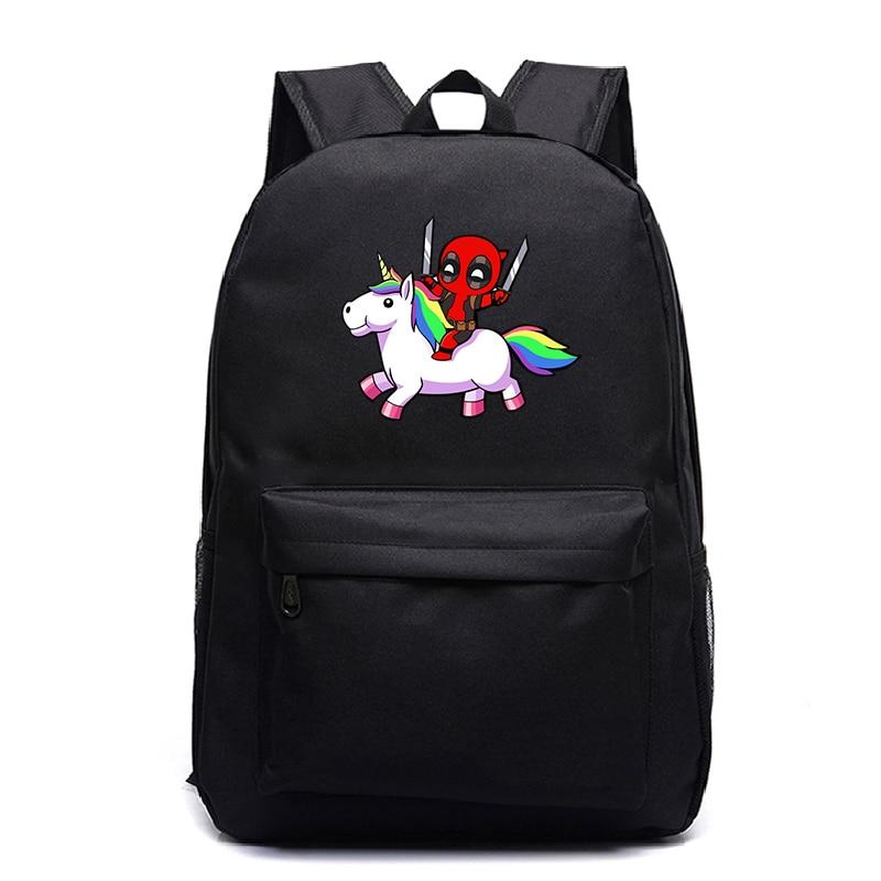 Deadpool Backpacks Teenager School Back Pack Bags Hot Peints Backpack Cartoon Sac A Dos Galaxy Mochila Casual Laptop Travel Bags