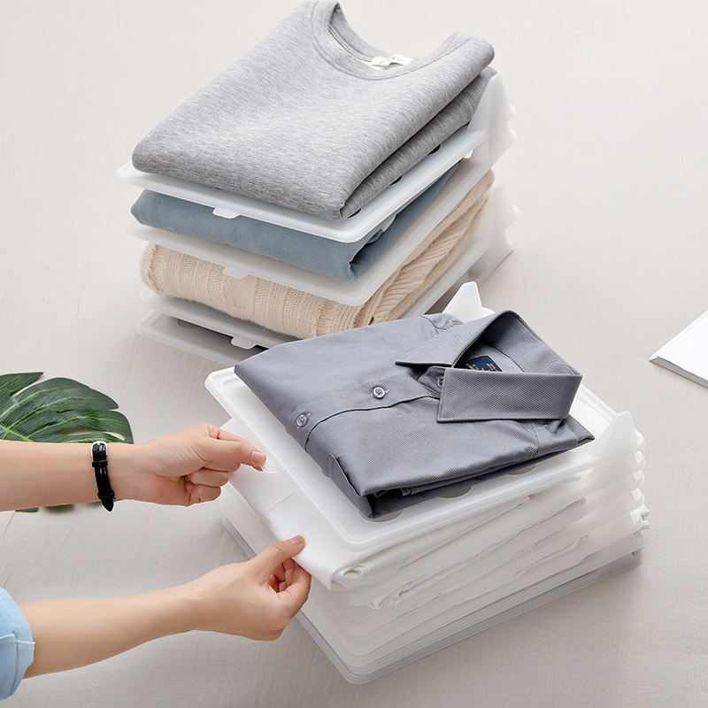 Clothes Folding Board Clothing <font><b>Organizer</b></font> wardrobe Drawer Divider T-<font><b>shirt</b></font> Folder Multifuncitonal Stack Household Closet <font><b>Organizer</b></font> image