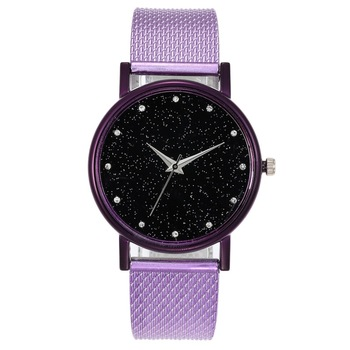 цена на Luxury Women Colorful Alloy Quartz Watch Starry Sky Crocodile Diamond-studded Ladies Wristwatch Openwork Bracelet New Watch