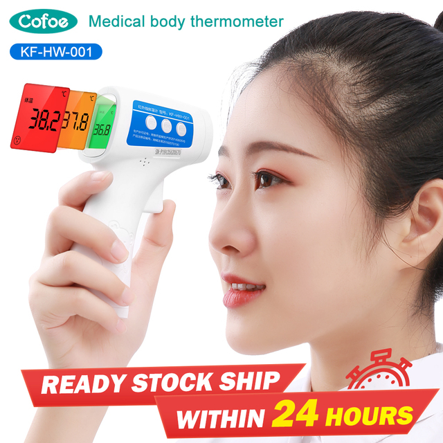 $ US $32.64 Cofoe Baby Thermometer Medical Forehead Digital Thermometer Non-contact Infrared Baby Body Temperature Portable for Child Fever