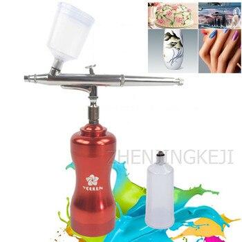 цена на Mini Rechargeable Air Pump Portable Model Air Pump Handheld 20ML + 40ML Electric Mark Airbrush Spray Paint Tools Spray Gun