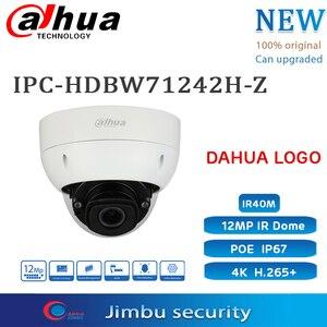 Image 1 - Dahua 12MP IPC HDBW71242H Z POE 4K אבטחת מצלמה להחליף IPC HDBW81230E ZE כיפת 2.7mm 12mm IR540M SD כרטיס חריץ רב שפה
