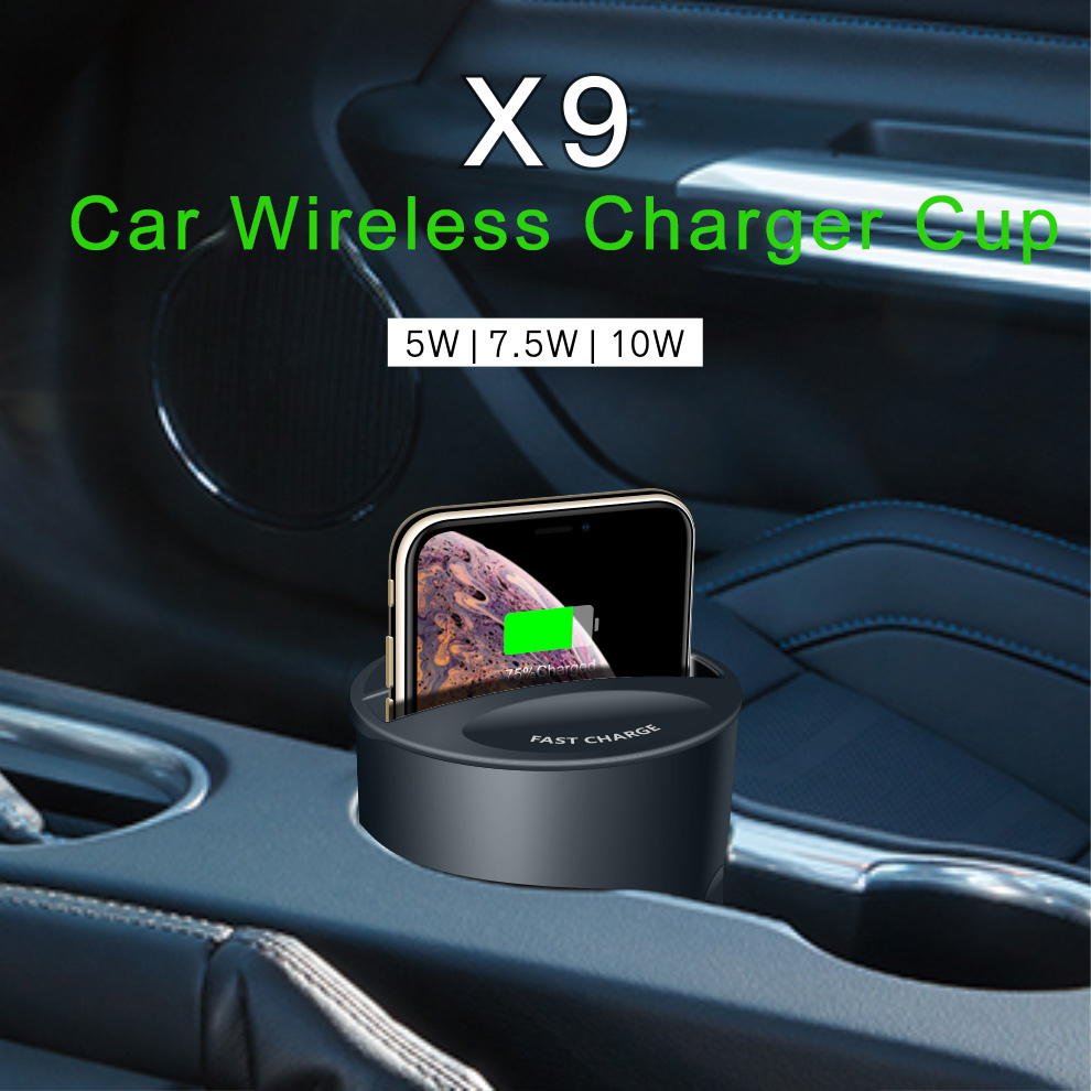 Fast-Charger-Cup Charge-Holder Apple Qi-Car iPhone Note10/9 Wireless 696 for 696x9 XS