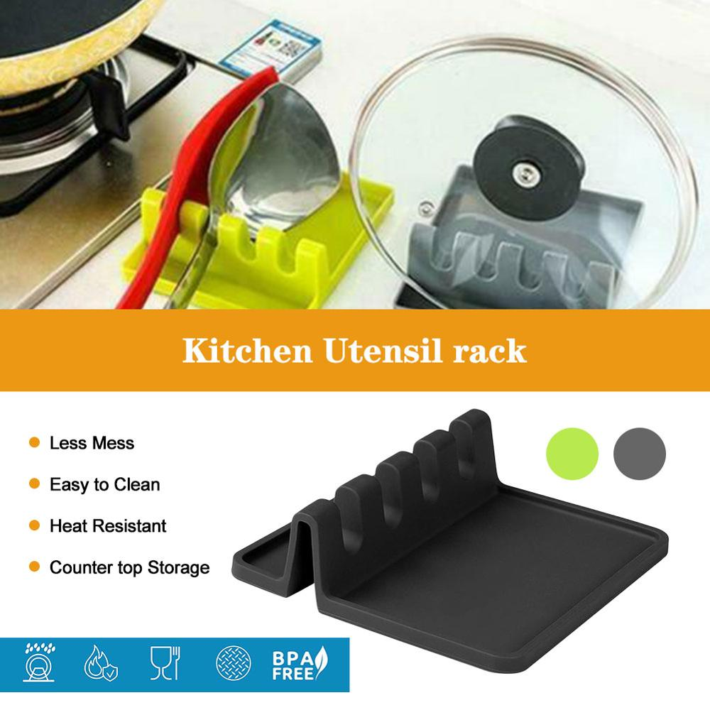 Силиконовая подставка для капельной посуды, термостойкая подставка для ложек, полка для кухни, аксессуары для хранения