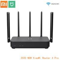 Xiaomi Router 4 Pro Gigabit 2.4G/5.0GHz Dual-Band 1317Mbps 128RAM ripetitore Wifi 5 antenne ad alto guadagno Router Wireless IPv6 più ampio