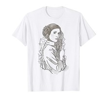 Принцесса Лея Геометрические линии футболка с рисунком (1)