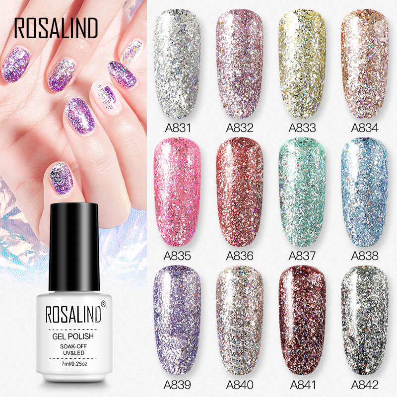 Rosalind Gel Nagellak Rainbow Platina Semi Permanente Uv Hybrid Vernissen Alle Voor Manicure Nail Design Art Nodig Top Base set