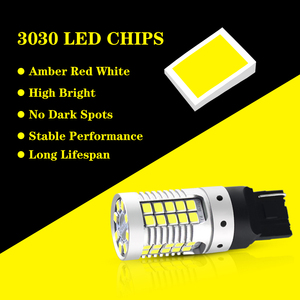 Image 3 - JDM Car 7440 7443 LED No Hyper Flash 12V T20 W21/5W 1157 3157 3156 1156 BAU15S LED Bulbs For Turn Signal Lights Red Yellow White