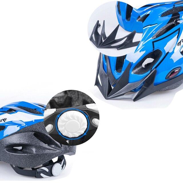 Lua criança equilíbrio capacete da bicicleta pc + eps respirável crianças ciclismo capacete de estrada montanha mtb capacete 260g tamanho m/l 4