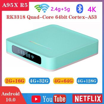 A95X R5 Smart TV Box Android 10 4K 4g 32gb 64gb 128gb 2.4g & 5g Dual wifi Bluetooth 4.0 Quad-core Android TV Box media player h96 max h2 4g 32g tv box android 7 1 rk3328 quad core set top box support 2 4g 5g wifi bt4 0 usb3 0 hdr10 4k vp9 media player