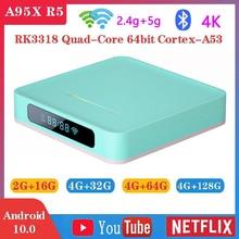 A95X R5 Smart TV Box Android 10 4K 4g 32gb 64gb 128gb 2.4g &