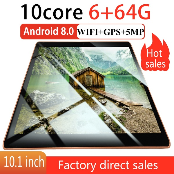 Android 8.0 Tablet PC 10.1 Inchs Octa Core 6GB RAM 128GB ROM Tablets Dual SIM Dual Camera 4G Phone Call Tablet Android
