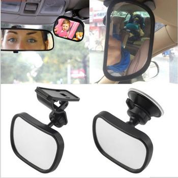 Obrót regulowana przyssawka lusterka dla dzieci tylne siedzenie samochodowe lusterko wsteczne dla dzieci wewnętrzne lusterko wsteczne części do wnętrza samochodu tanie i dobre opinie glass Wnętrze lustra 2020 5 5cm 0inch