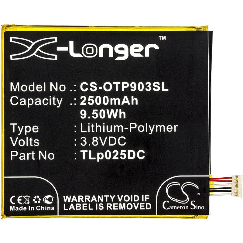 Аккумулятор Cameron Sino 2500 мАч для Alcatel One Touch Pixi 4 6,0 One Touch Pixi 4 6,0 3G OT-8050D OT-9001A Pixi 4 6,0 OT-9001X