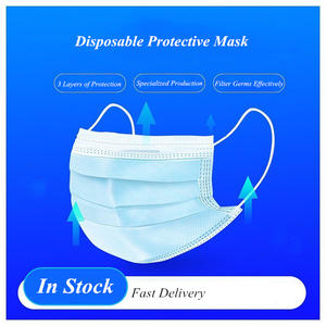 Anti-Pollution 3 Layer Non-woven Dust Mask Thickened Disposable Face Mask Melt-blown cloth Masks Fast delivery