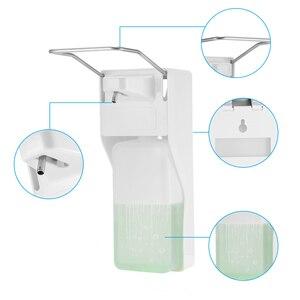 Image 5 - ABS plastic 1000ml liquid soap dispenser hospital hotel kitchen wall mounted elbow hand sanitizer hygienic Drip /spray version