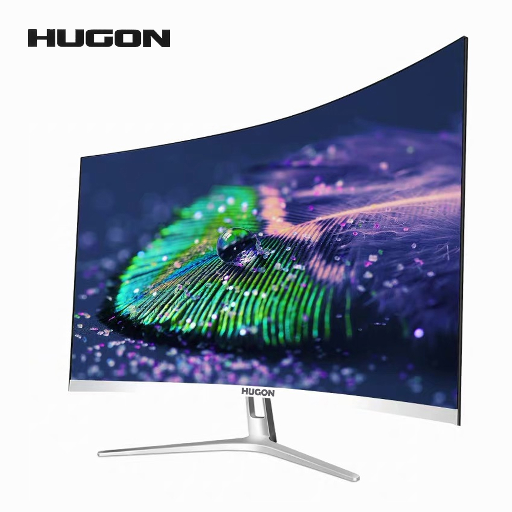 HUGON 27 Inch Curved 75Hz 1920*1080 Monitor SPVA Computer Display Screen Full Hdd Input 5ms Respons HDMI/VGA