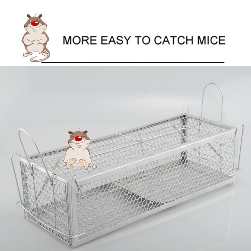 Animal Trap Steel Cage Mouse Control Cage 1pcs 30*12*24cm Catch Capture Hamster Gardening Supplies Catch Mice Squirrel