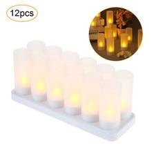 Led Kaarsen Oplaadbare Kaarslicht Theelichtjes Vlamloze Led Kaarsen Waxinelicht Woondecoratie