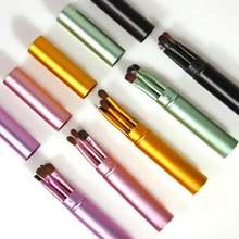 Набор кистей для макияжа глаз комплект из 5 портативных карандаш