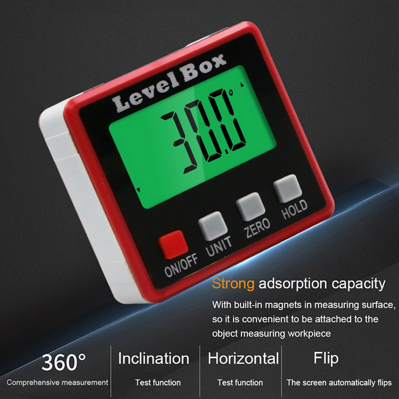 Precision Digital  Inclinometer Water Proof Level Box Angle Finder Bevel Box With Magnet Base Digital Gauge Hot